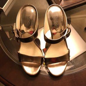 Michael kors silver heels